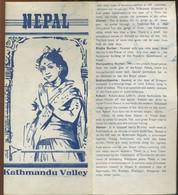 Vieux Papiers - Carte - Kathmandu Valley Nepal (en Anglais)- Dépliant Avec Plan - Geographical Maps
