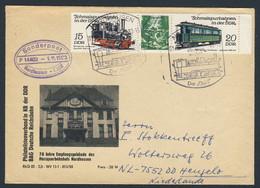 DDR Germany 1983 Brief Cover - 70 Jahre Empfangsgebäude Harzquerbahnhof, Nordhausen - Sorderpost - Trains