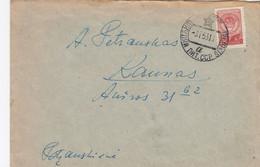 LITHUANIA Local Post Cover From Siauliai To Kaunas 1953 #25673 - Lituanie