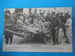 17 ) Ile De Ré - Saint-martin N° 5 - Transport Sur Charette De Prisonniers Allemands Blessés - Année - EDIT : Morin - Saint-Martin-de-Ré