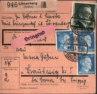 ! 1943 Löwenberg In Schlesien Nach Dittmannsdorf über Borna, Paketkarte, Deutsches Reich, 3. Reich - Covers & Documents