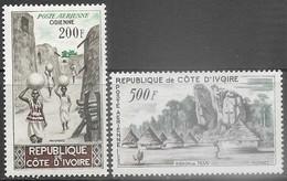 French Ivory Coast 1962  Sc#C19-20  Airmail Set MLH  2016 Scott Value $16.50 - Ivory Coast (1960-...)