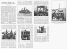 """LE FERRY-BOAT  PROLONGE LE RAIL Entre """" CALAIS Et HARWICH """"    1933 - Barche"""