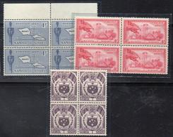 QUS* - SAMOA 1958 , Serie Yvert N. 161/163 ***   In Quartina - Samoa