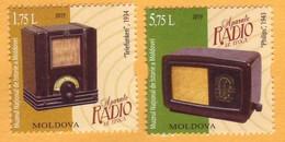 2019 Moldova Moldavie  Devices Radio. Phillips 1943, Telefunke-1934, Museum. Story Mint - Télécom