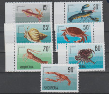 Albania  1968  **  Mnh  Yvert    1118/24   Valor  8 €  Caracolas - Albanie