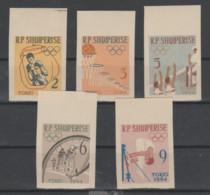 Albania  1963  **  Mnh  Yvert   626/30   Valor   15 €  Sindentar - Albanie