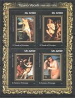 TT282 !!! LAST ONE IN STOCK 2011 S.TOME E PRINCIPE ART TIZIANO VECELLI 1KB MNH - Desnudos