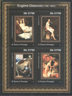 TT287 2011 S.TOME E PRINCIPE ART PETER EUGENE DELACROIX 1KB MNH - Desnudos