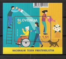 SLOVENIA 2020,NEW  13.4,NATIONAL VOLUNTEER WEEK,BLOCK,HELP,DOG,MNH - Slovenia