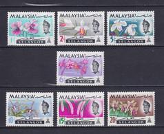 MALAYSIA SELANGOR 1965, SG# 136-142, Flowers, MNH - Malaysia (1964-...)