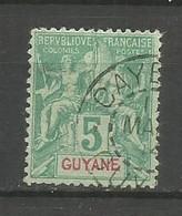 Timbre De Colonie Française Guyane Oblitéré N 33 - Gebruikt