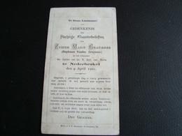 Gedenkenis Plechtige Kloosterbeloften Zuster Marie Gratienne Te Nederbrakel Den 9 April 1901 - Sonstige