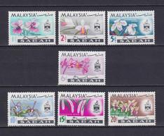 MALAYSIA SABAH 1965/68, SG# 424-430, Flowers, MNH - Malaysia (1964-...)
