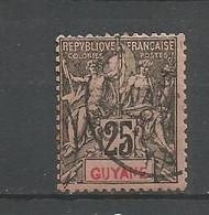 Timbre De Colonie Française Guyane Oblitéré N 37 - Gebruikt