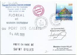 YT 3165 Mont Saint Michel - Marion Dufresne Et Floréal Au Port Des Gallets - St Gilles Les Bains - Réunion - 29/04/1999 - Cartas