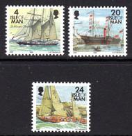 ISLE OF MAN - 1996 SMALL SHIPS SET (3V) FINE MNH ** SG 687, 689, 693 - Isle Of Man