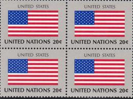 NATIONS UNIES, UNITED STATES, Drapeau, Bloc De 4, Belle Gomme - Altri