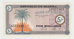 Biafra 5 Shillings 1967 P-1 UNC - Autres - Afrique