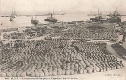 Algerie Alger Encombrement Des Quais Expédition Des Futs De Vin Cachet 1912 - Algiers