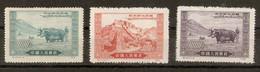 Chine 1952 - Libération Du Tibet, Liberation Of Tibet - Petit Lot De 3 NSG - Ongebruikt