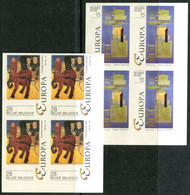 13193426 BE 19930424; Europa, Art Contemporain, G Bertrand, C Permeke; ND Bl4 Cob2501-02 N°357à360 - No Dentado