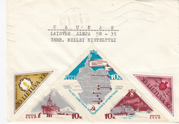 LITHUANIA READ Local Post Cover From Siauliai To Kaunas Mixed USSR Lithuania Stamps 1991 #25680 - Litauen