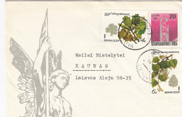 LITHUANIA READ Local Post Cover From Siauliai To Kaunas Mixed USSR Lithuania Stamps 1991 #25681 - Litauen
