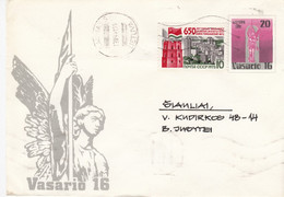 LITHUANIA READ Local Post Cover From Kaunas To Siauliai Mixed USSR Lithuania Stamps 1991 #25682 - Litauen