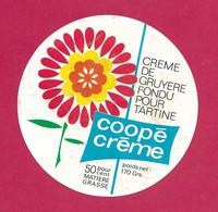 ETIQUETTE De FROMAGE.. CREME De GRUYERE FONDU Pour TARTINE.. Coopé Crème - Käse