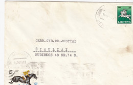 LITHUANIA READ Local Post Cover From Baisiogala To Siauliai Mixed USSR Lithuania Stamps 1991 #25683 - Litauen