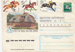 LITHUANIA READ Local Post Cover From Siauliai To Vilnius Mixed USSR Lithuania Stamps 1991 #25684 - Litauen