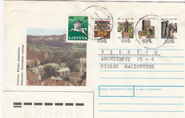 LITHUANIA READ Local Post Cover From Siauliai To Vilnius Mixed USSR Lithuania Stamps 1991 #25685 - Litauen