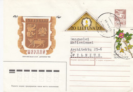 LITHUANIA READ Local Post Cover From Siauliai To Vilnius Mixed USSR Lithuania Stamps 1991 #25686 - Litauen