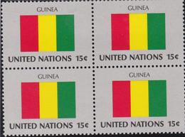 NATIONS UNIES, GUINEA, Drapeau, Bloc De 4, Belle Gomme - Altri