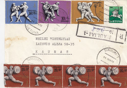 LITHUANIA READ Local Post Cover From Siauliai To Kaunas Mixed USSR Lithuania Stamps 1991 #25692 - Litauen