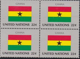 NATIONS UNIES, GHANA, Drapeau, Bloc De 4, Belle Gomme - Altri