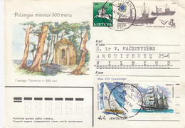LITHUANIA READ Local Post Cover From Siauliai To Vilnius Mixed USSR Lithuania Stamps 1991 #25694 - Litauen