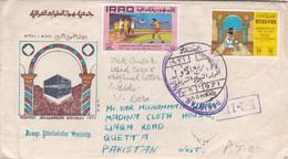 1971 IRAQ TO PAKISTAN COVER WITH PAKISTAN CENSOR KR-7  MARK  SCHOOL BOY GAMES PROPHRT BIRTHDAY - Irak