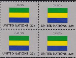 NATIONS UNIES, GABON, Drapeau, Bloc De 4, Belle Gomme - Altri