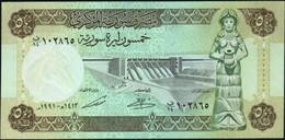 ♛ SYRIA - 50 Pounds 1991 UNC P.103 E - Siria