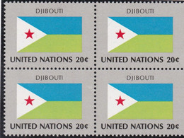 NATIONS UNIES, DJIBOUTI, Drapeau, Bloc De 4, Belle Gomme - Altri