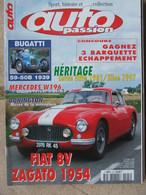 Revue Auto Passion N°124 (oct 1998) Lotus Elite - Fiat 8V Zagato - Bugatti 59-50 B - Auto/Motor