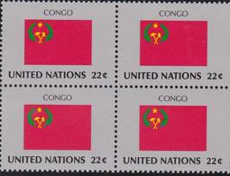 NATIONS UNIES, CONGO, Drapeau, Bloc De 4, Belle Gomme - Altri