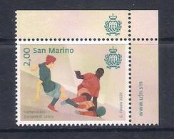 San Marino (2020) Calcio/football: EURO 2020; Single Stamp With Labels (MNH) - Eurocopa (UEFA)