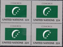 NATIONS UNIES, COMOROS, Drapeau, Bloc De 4, Belle Gomme - Altri