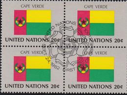 NATIONS UNIES, CAPE VERDE, Drapeau, Bloc De 4, 1er Jour, 24 Sept 1982 - Altri
