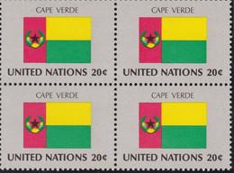 NATIONS UNIES, CAPE VERDE, Drapeau, Bloc De 4, Belle Gomme - Altri