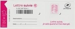 France 2016 - Lettre Suivie Adhésif 1217a Marianne Et La Jeunesse Ciappa Kawena Suivi Liasse Complète - France