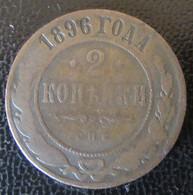 Russie - Monnaie 2 Kopecks 1896 - Russia